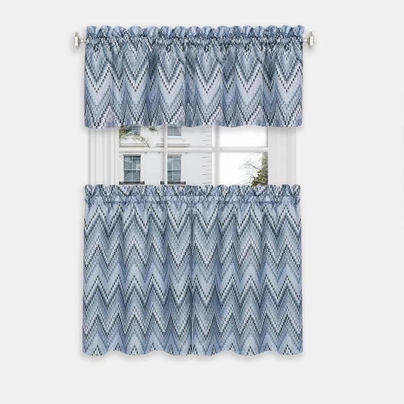 tehama simple elegance 3 piece window curtain tier and valance set
