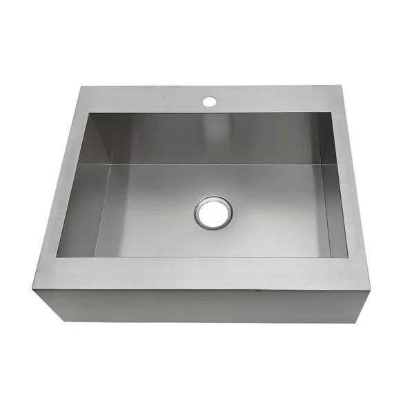 gourmetier 30 l x 24 w drop in kitchen sink