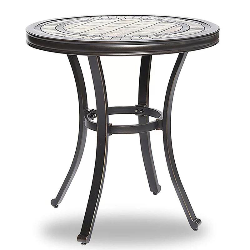 28 x28 6 round bistro patio table contemporary outdoor garden furniture