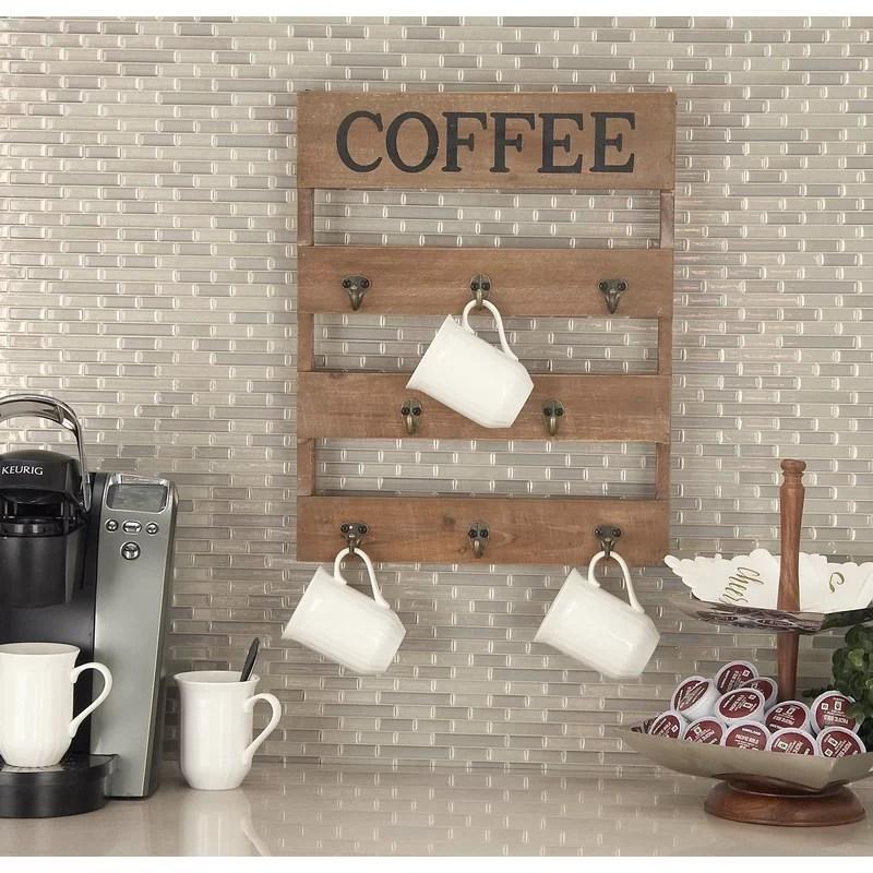 hassen wall mounted mug rack