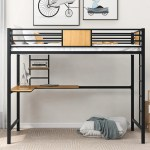 Isabelle Max Qualls Twin Loft Bed With Desk Wayfair