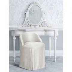 fluffy vanity chair wayfair