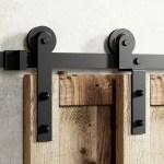 Homacer Single Bypass Double Door Barn Door Hardware Kit Reviews