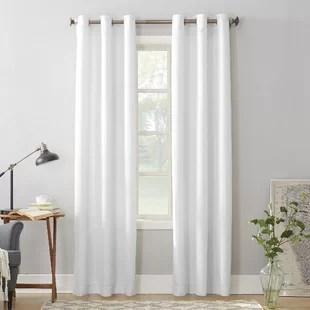 matson solid semi sheer grommet single curtain panel