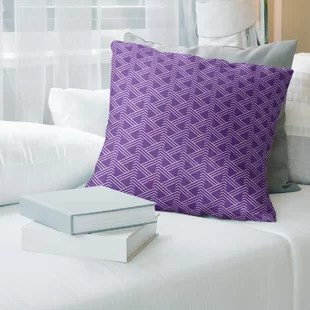 leather suede purple throw pillows