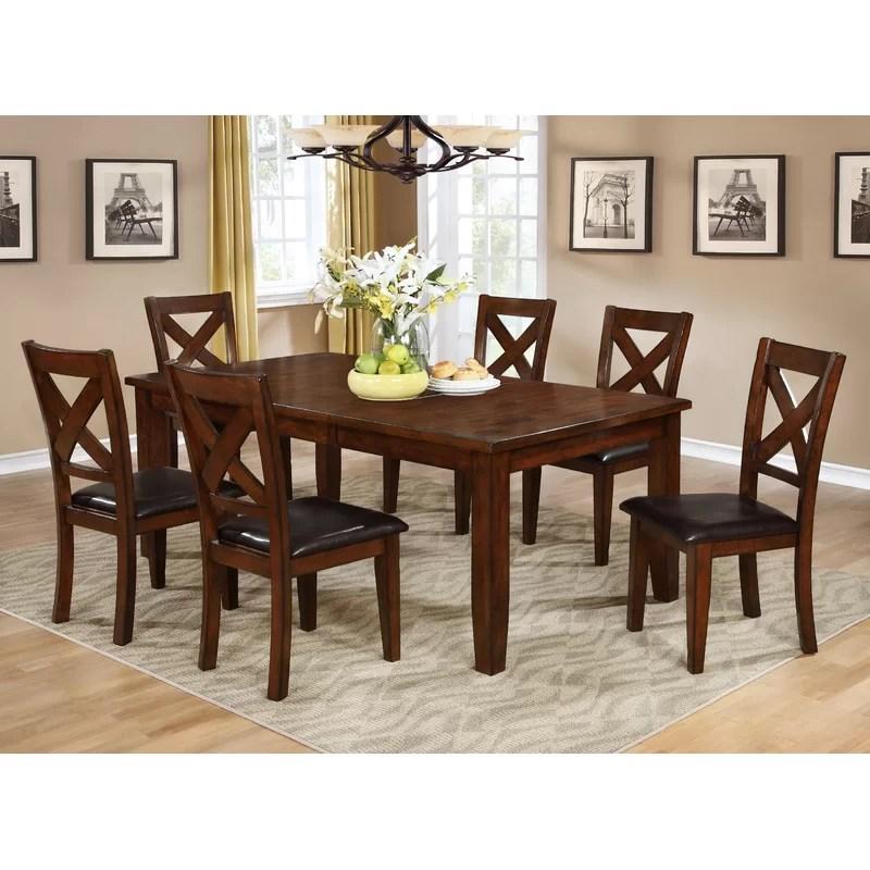 red barrel studio jovany extendable solid wood dining on solid wood dining table id=33740