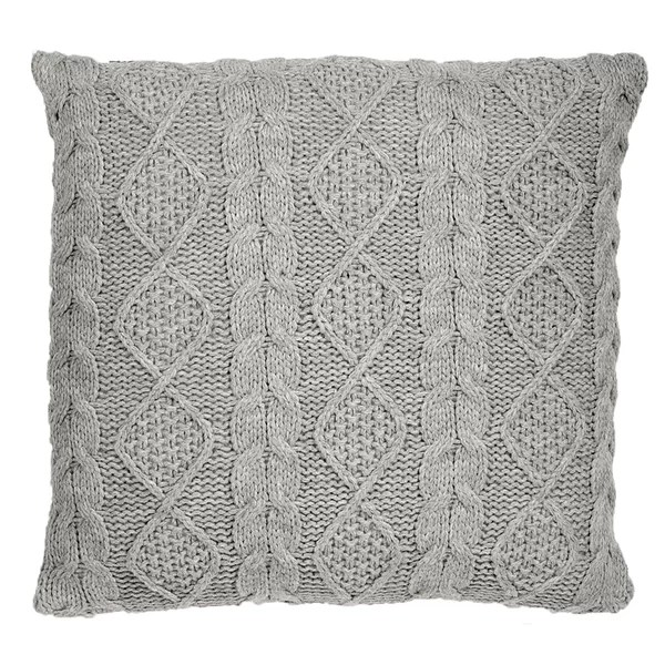 lucero chunky cable knit throw pillow