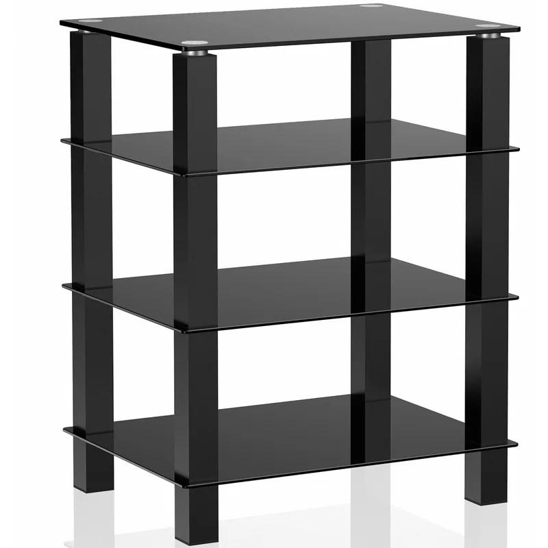 4 tier media component stand audio rack