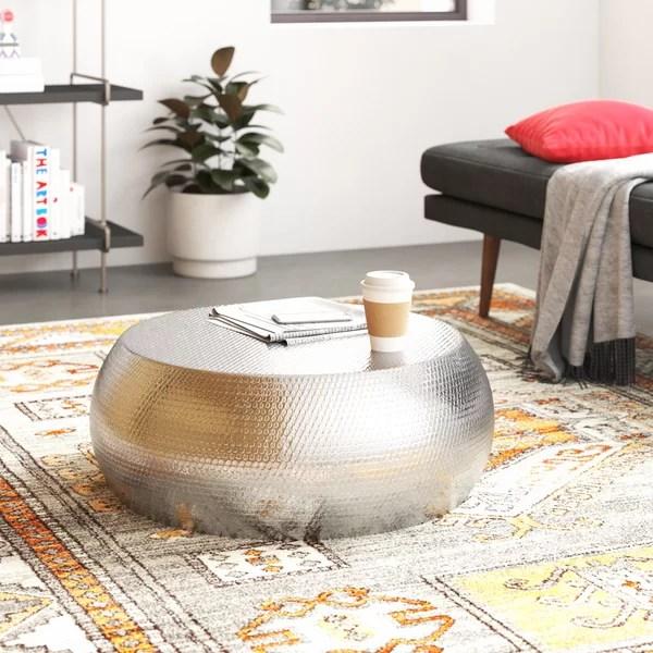 modern contemporary aluminum coffee table