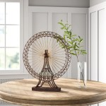 Home Garden Other Home Decor Large Ferris Wheel Sculpture Statue Vintage Antique Rustic Metal Replica Magnumcap Com