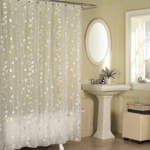 medina ivy vinyl floral single shower curtain