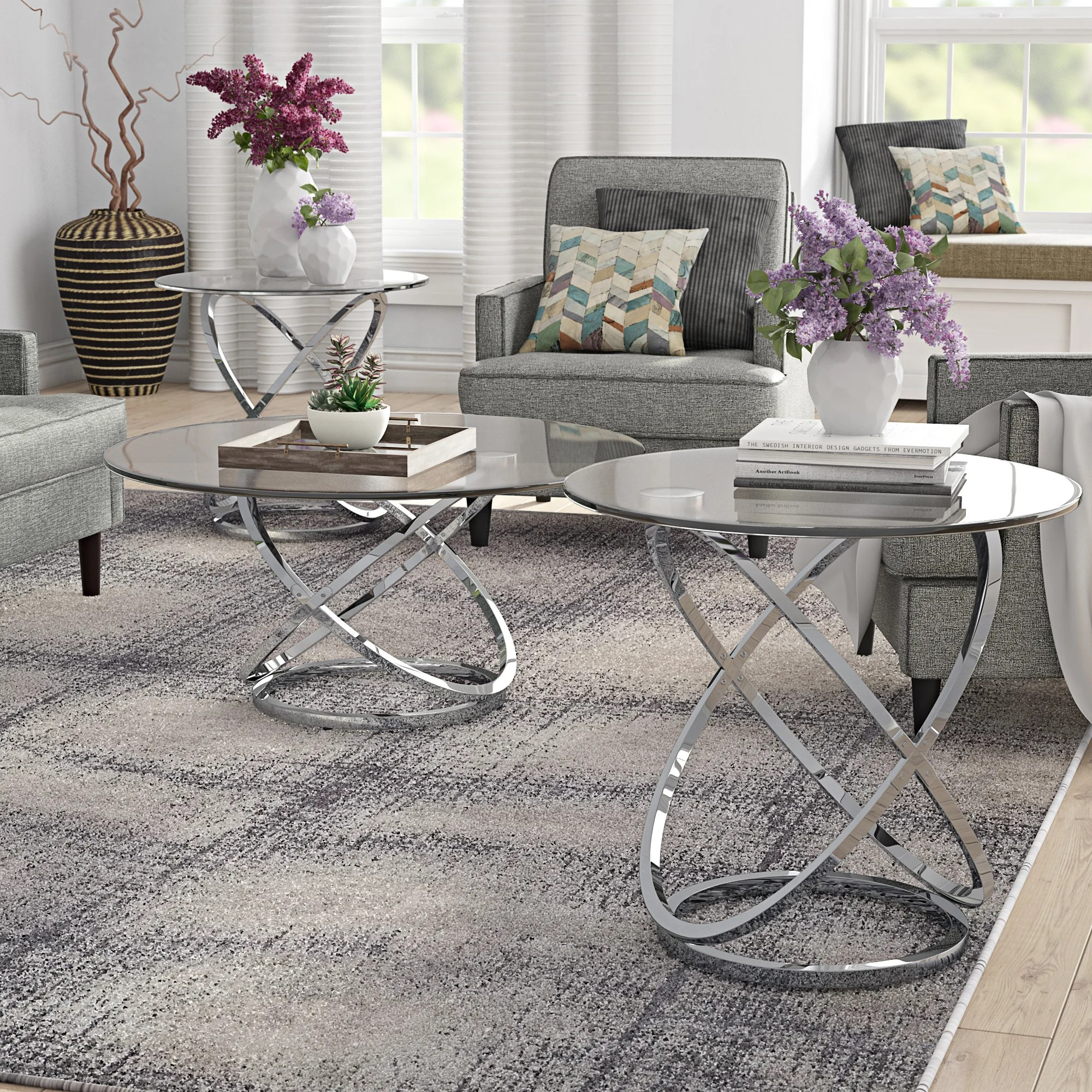 metal coffee table sets free shipping