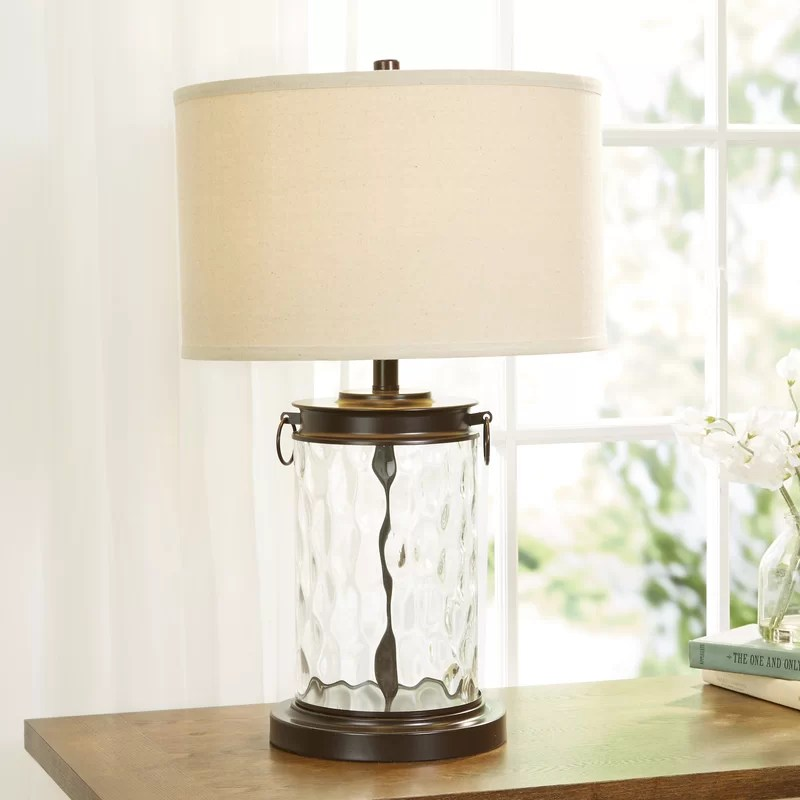 ranchester 25 25 bronze clear table lamp