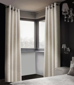 Arends Solid Room Darkening Thermal Grommet Curtain Panels