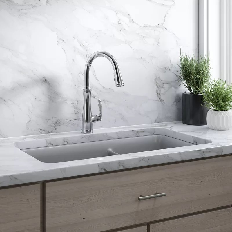 bellera pull down single handle kitchen faucet with docknetik masterclean and promotion