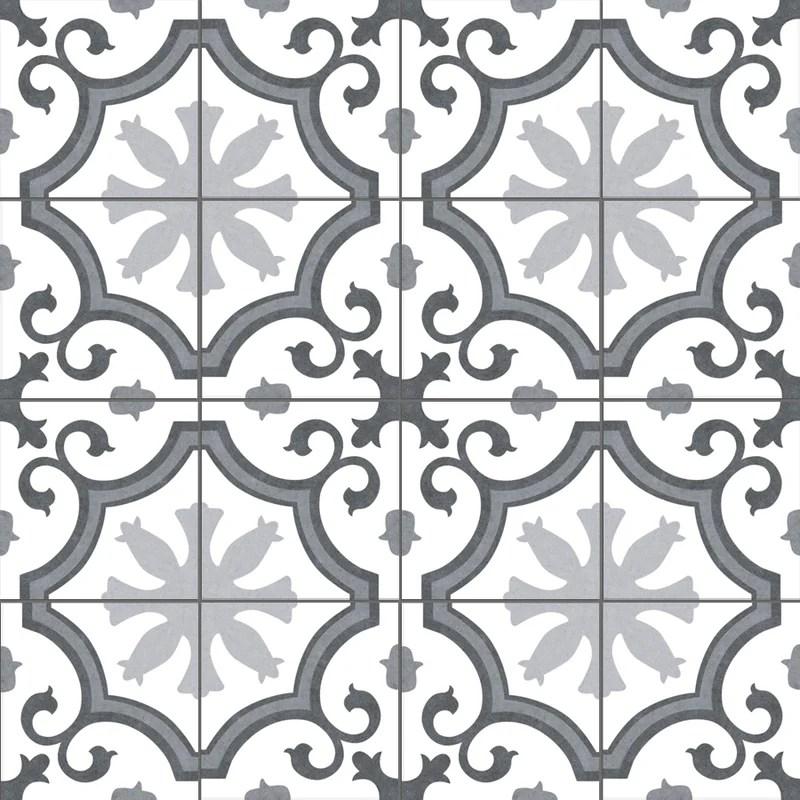 palma 10 x 10 ceramic patterned wall floor tile