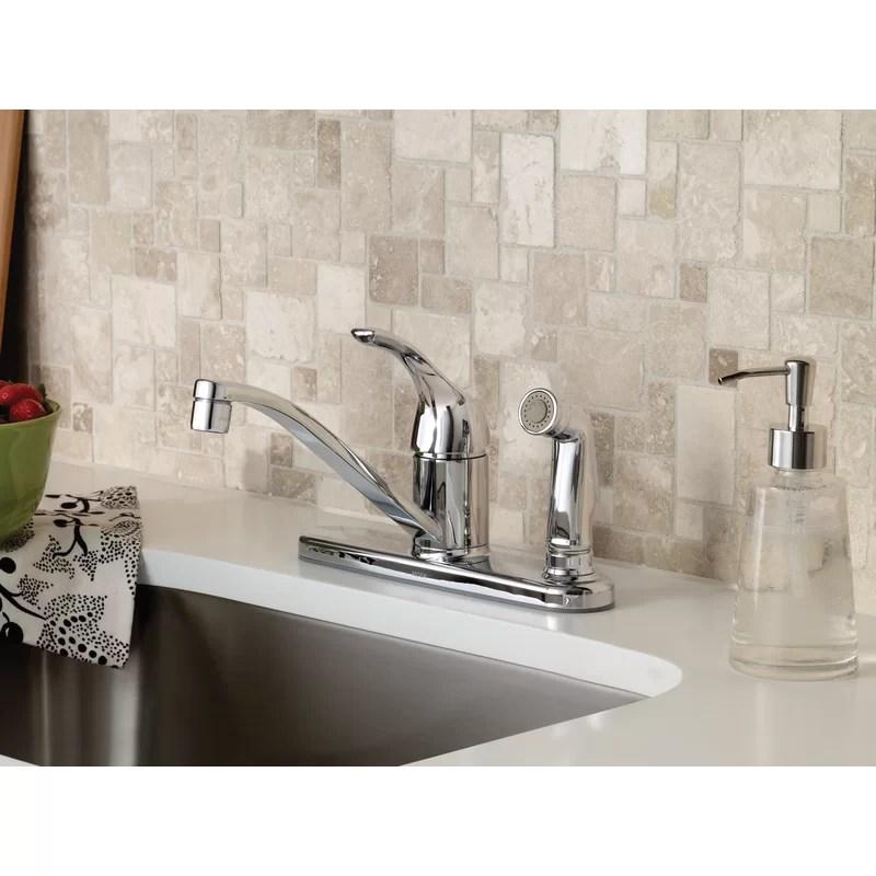 adler single handle kitchen faucet with duralock