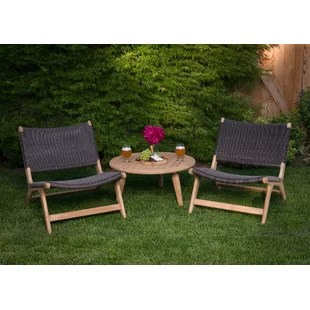 teak solid wood 2 person seating group