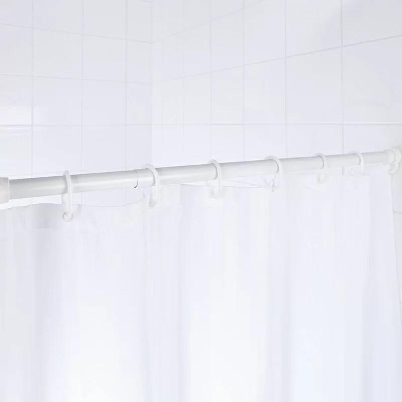 ridder telescopic 185cm adjustable straight fixed shower curtain rail