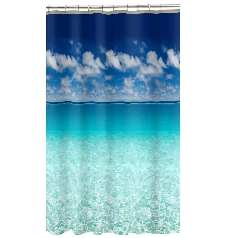 sunderland escape ocean photoreal single shower curtain