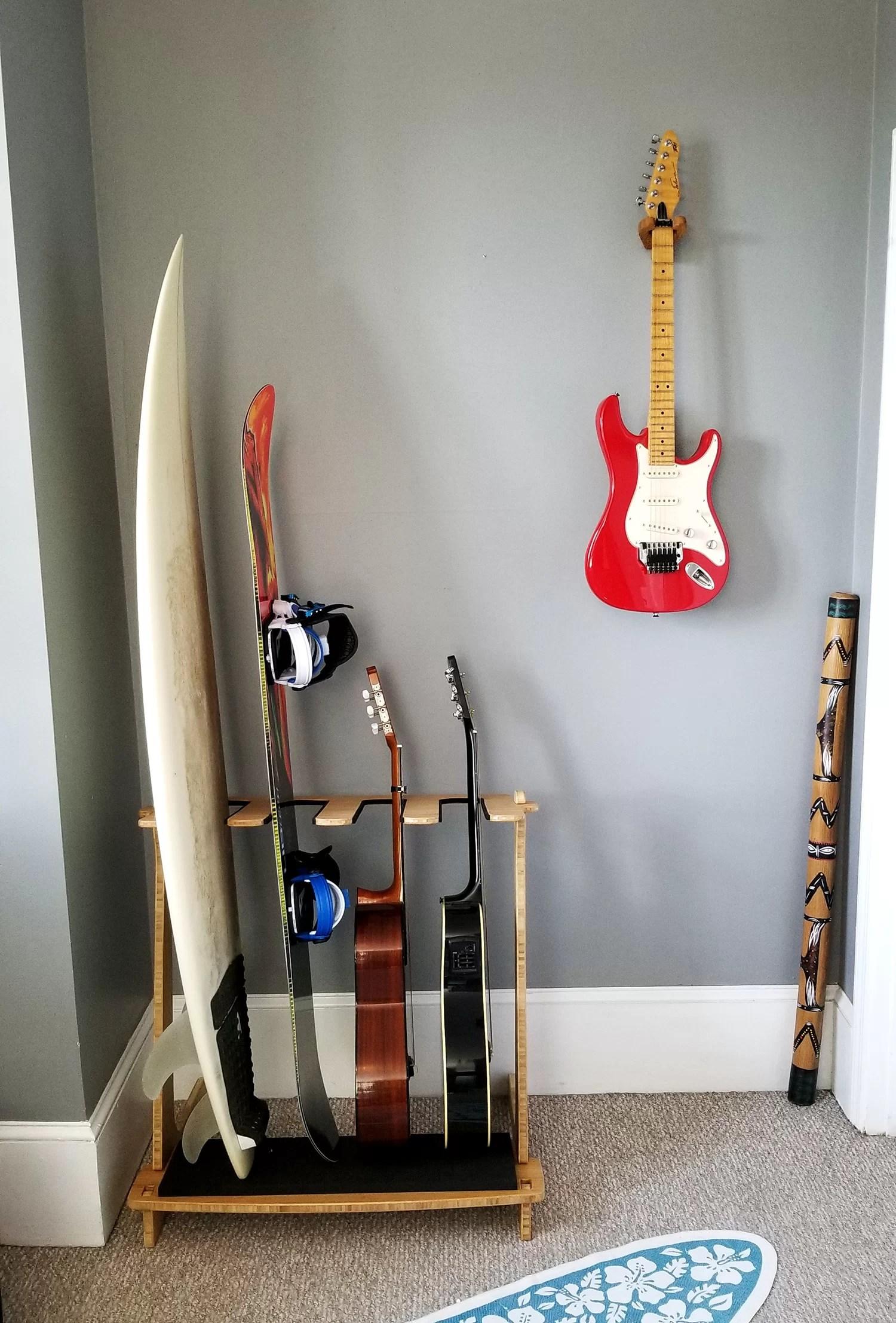 bamboo vertical surf freestanding rack