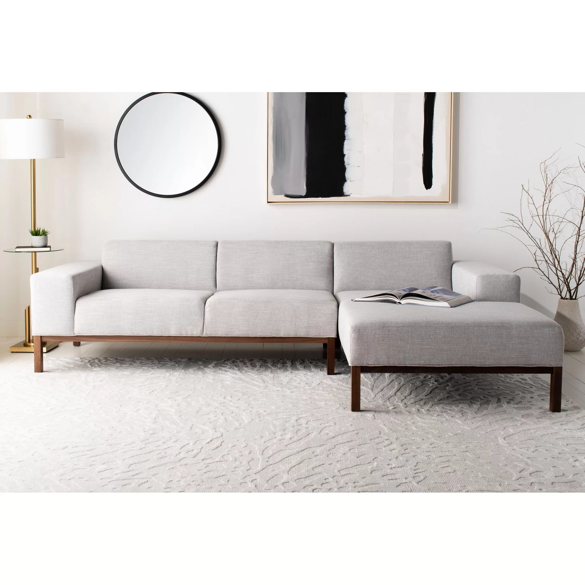 grey modern contemporary sectionals