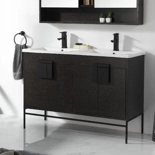 modern black bathroom vanities allmodern