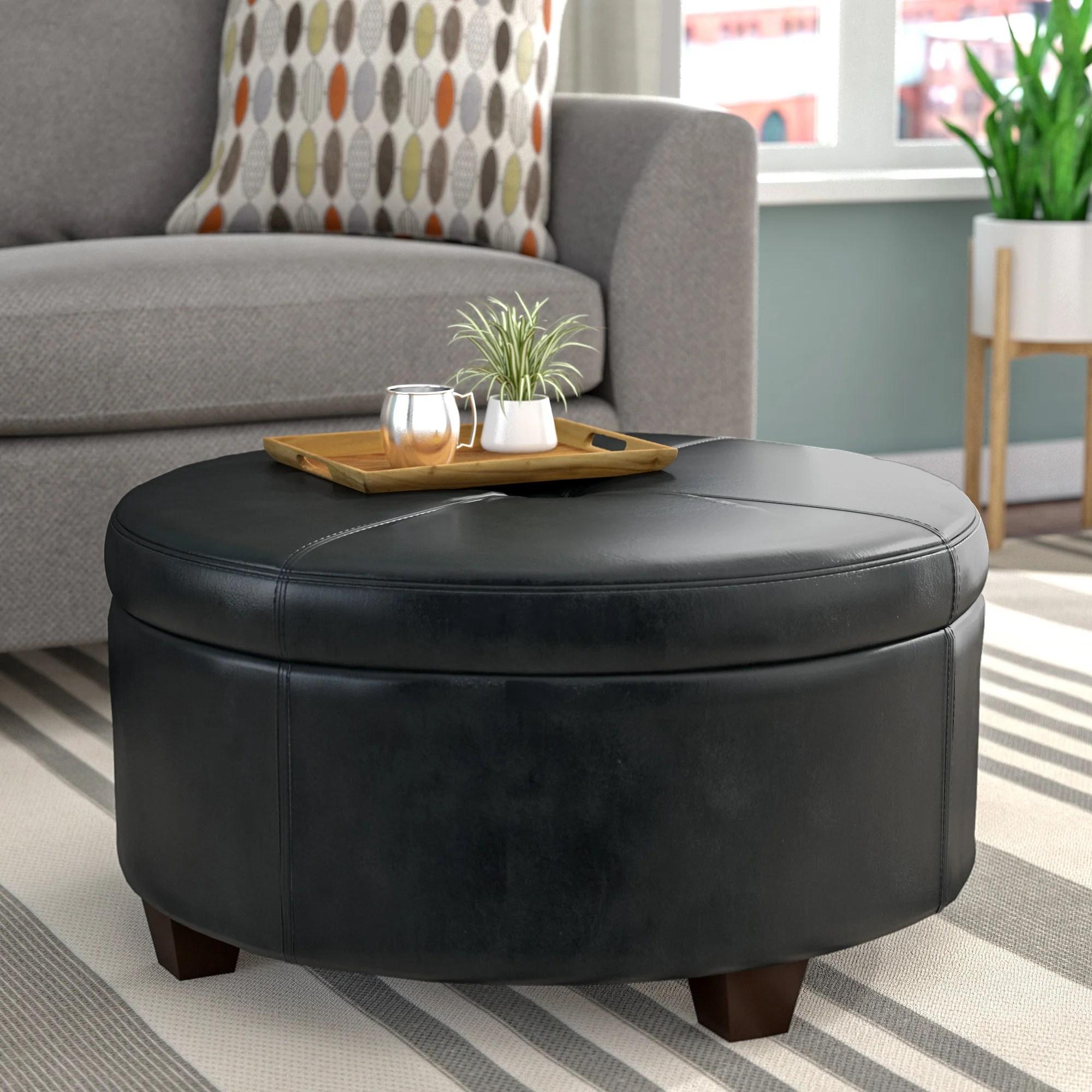 black round ottomans poufs you ll