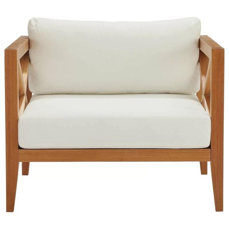 dowell teak patio chair with cushions