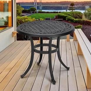 handler powder coated aluminum side table