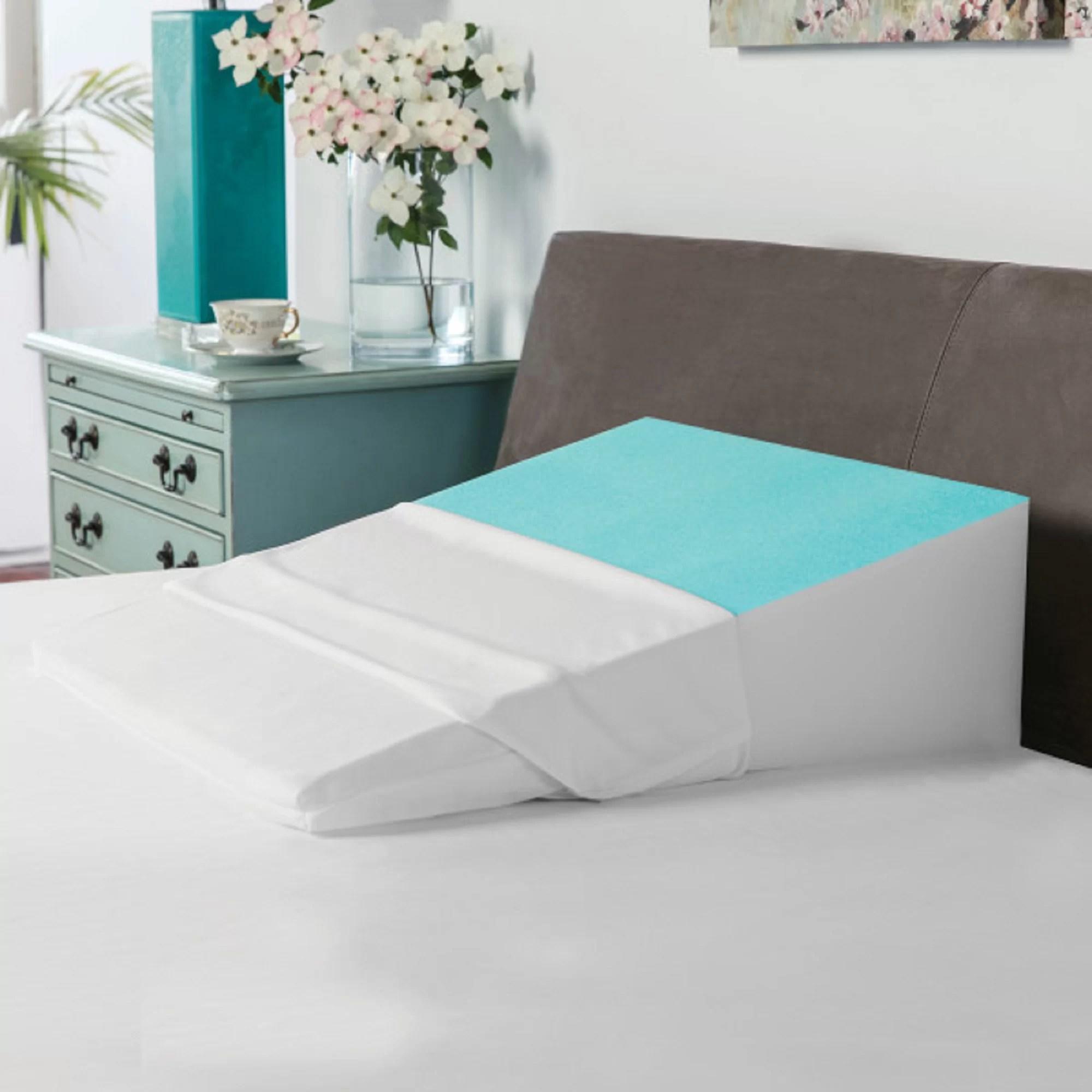 cooling gel coated memory foam wedge pillow