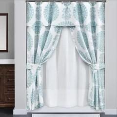 double swag shower curtain set wayfair