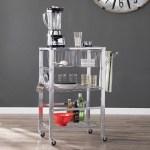 Ebern Designs Taft Avenue Metal Bar Cart Reviews Wayfair