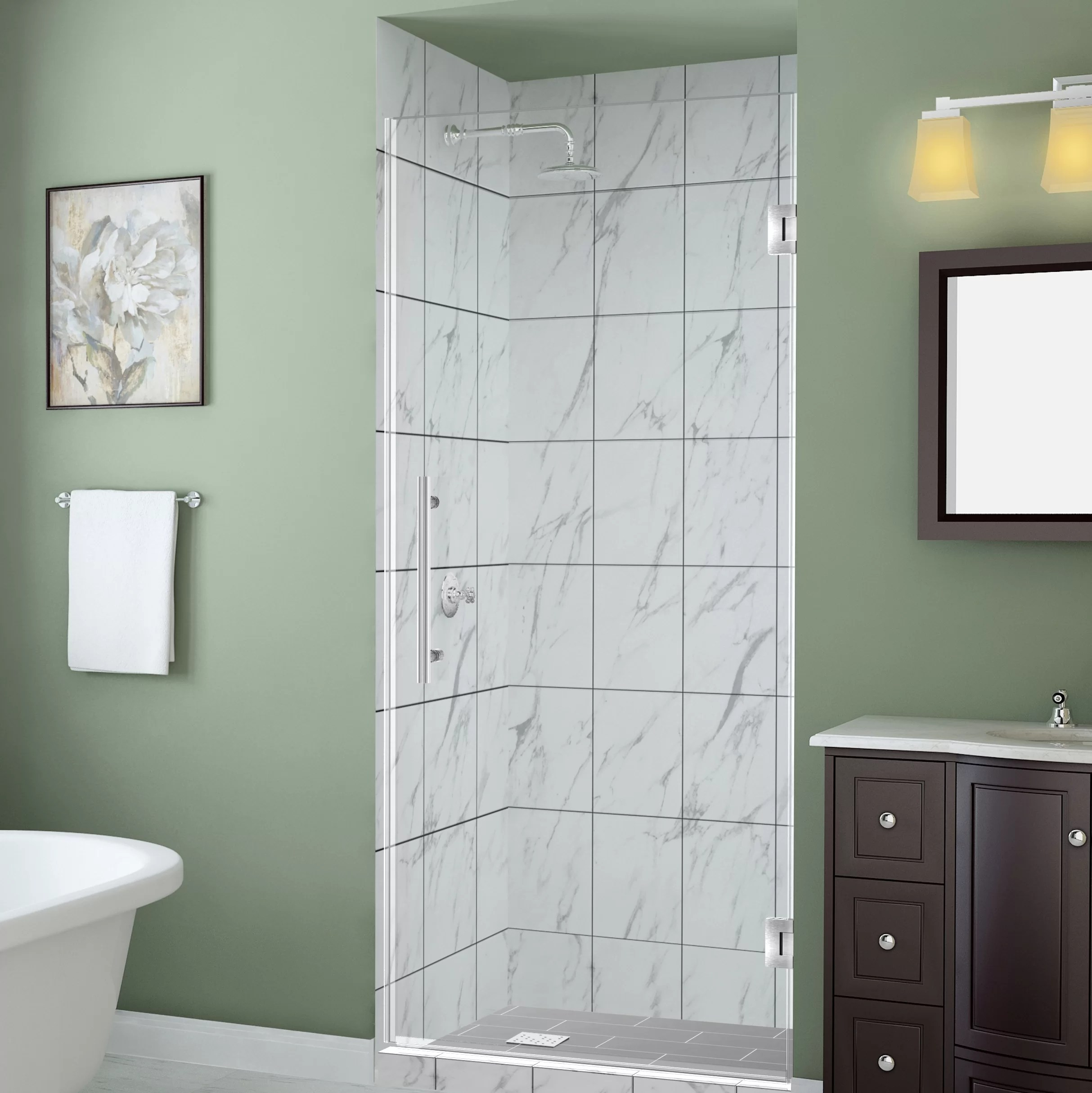Belmore Gs 44 X 72 Hinged Frameless Frosted Shower Door
