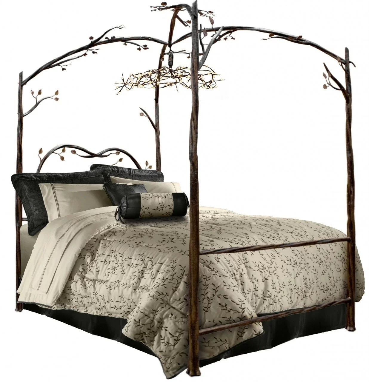 Stone County Ironworks Enchanted Queen Canopy Bed