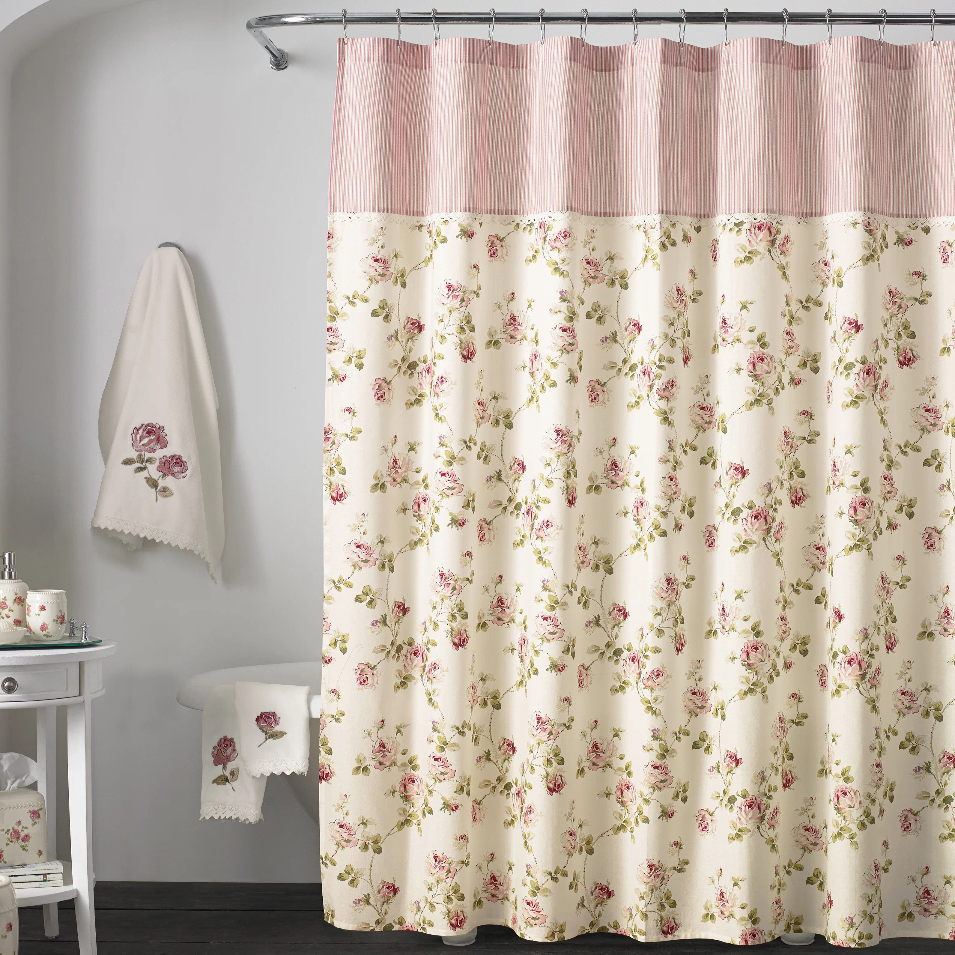 rigby cotton floral single shower curtain