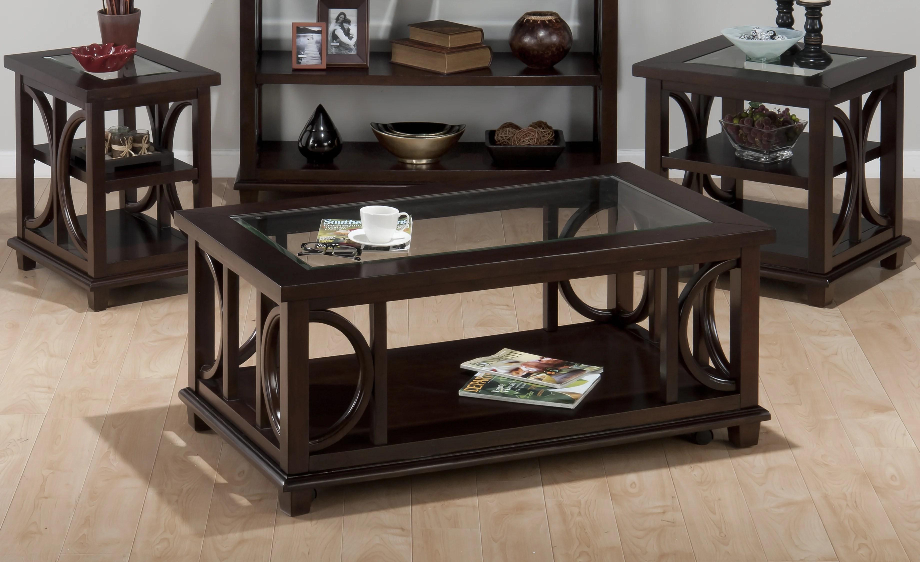espresso wood coffee table sets you ll