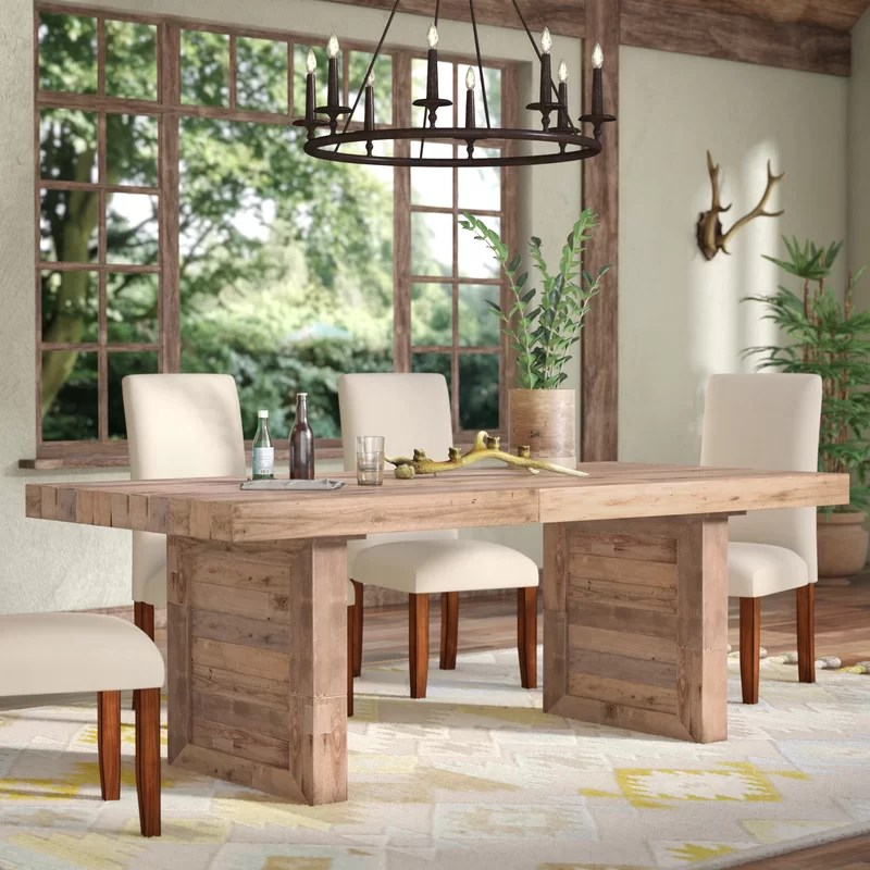 mistana abbey solid wood dining table reviews wayfair on solid wood dining table id=59940