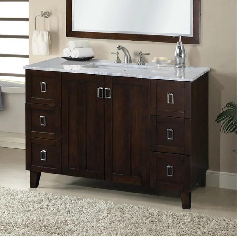 "zipcode design lehigh 48"" single sink bathroom vanity set"