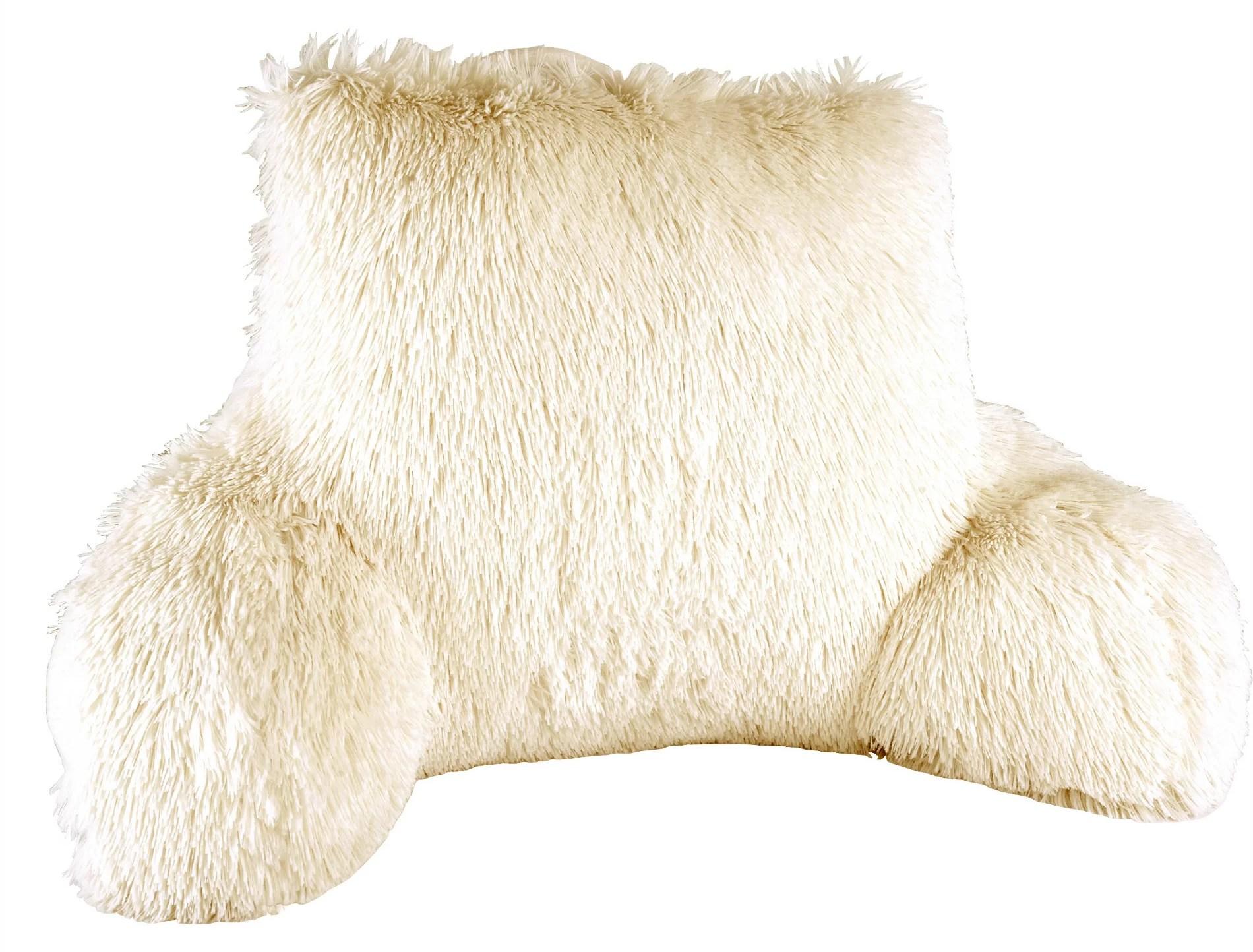 melina shaggy backrest pillow cover insert