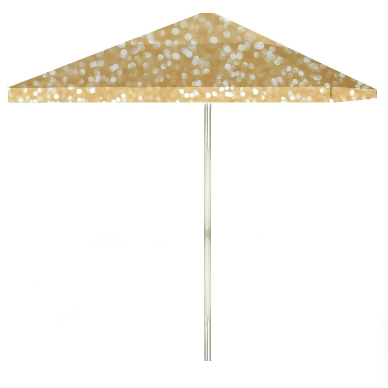 glitter me gold 72 x 72 rectangular market umbrella
