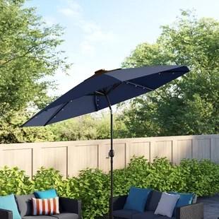 jericho lighted market umbrella