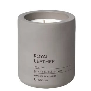 royal leather scented jar candle