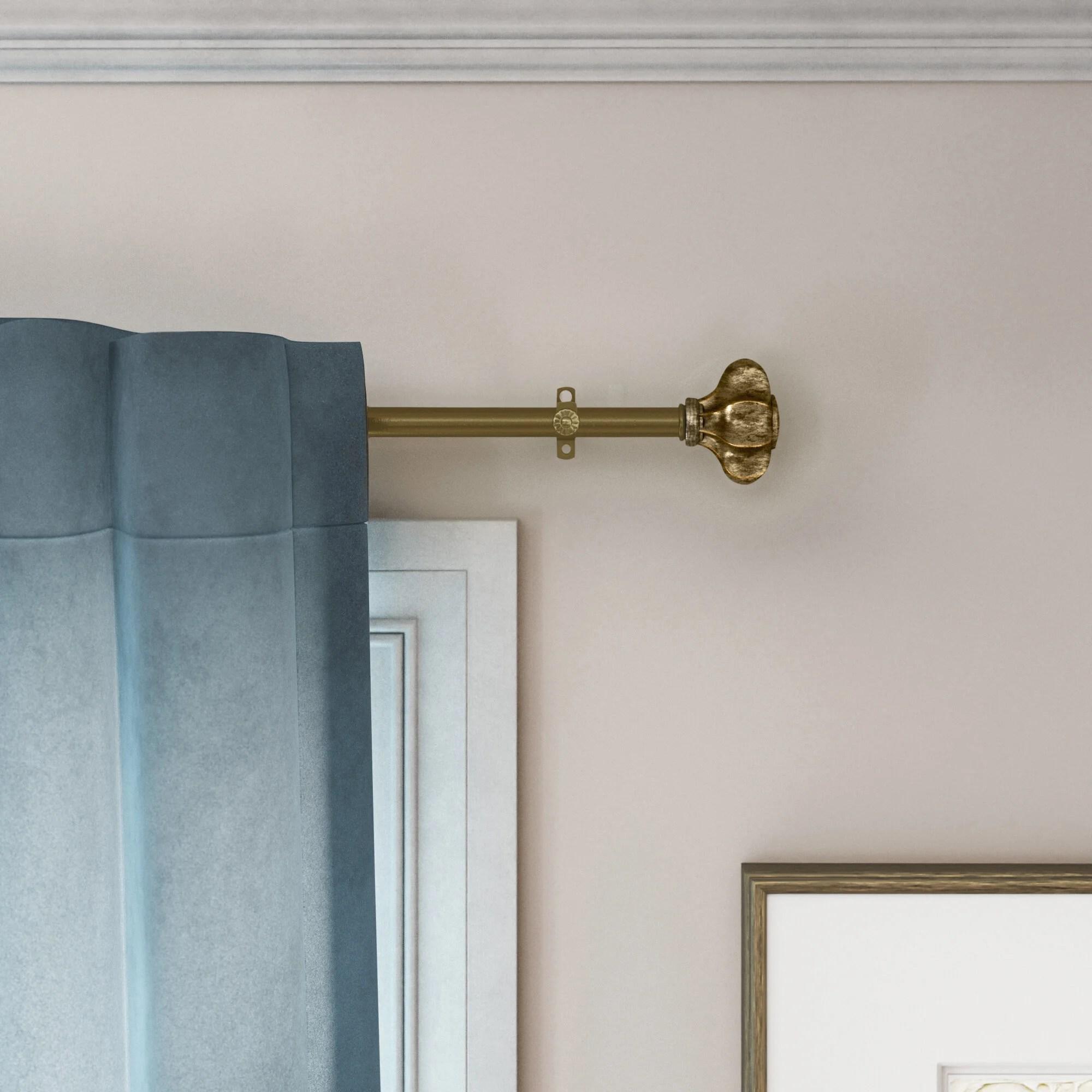 corner rod curtain hardware