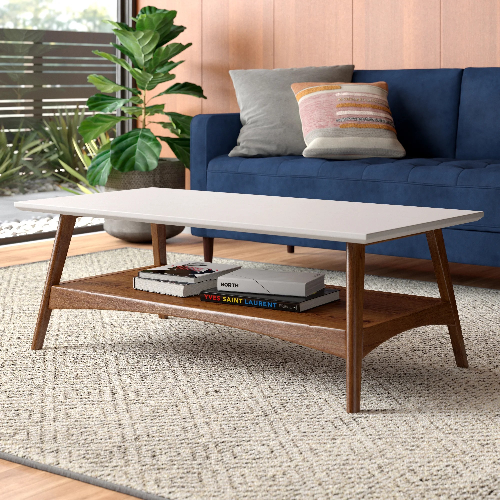 modern rectangle coffee tables allmodern