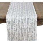 Mercer41 Tarrytown Textured Faux Fur With Brushed Metallic Foil Print Table Runner Reviews Wayfair