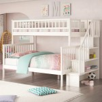 Viv Rae Shyann Staircase Twin Over Full Bunk Bed With Shelves Reviews