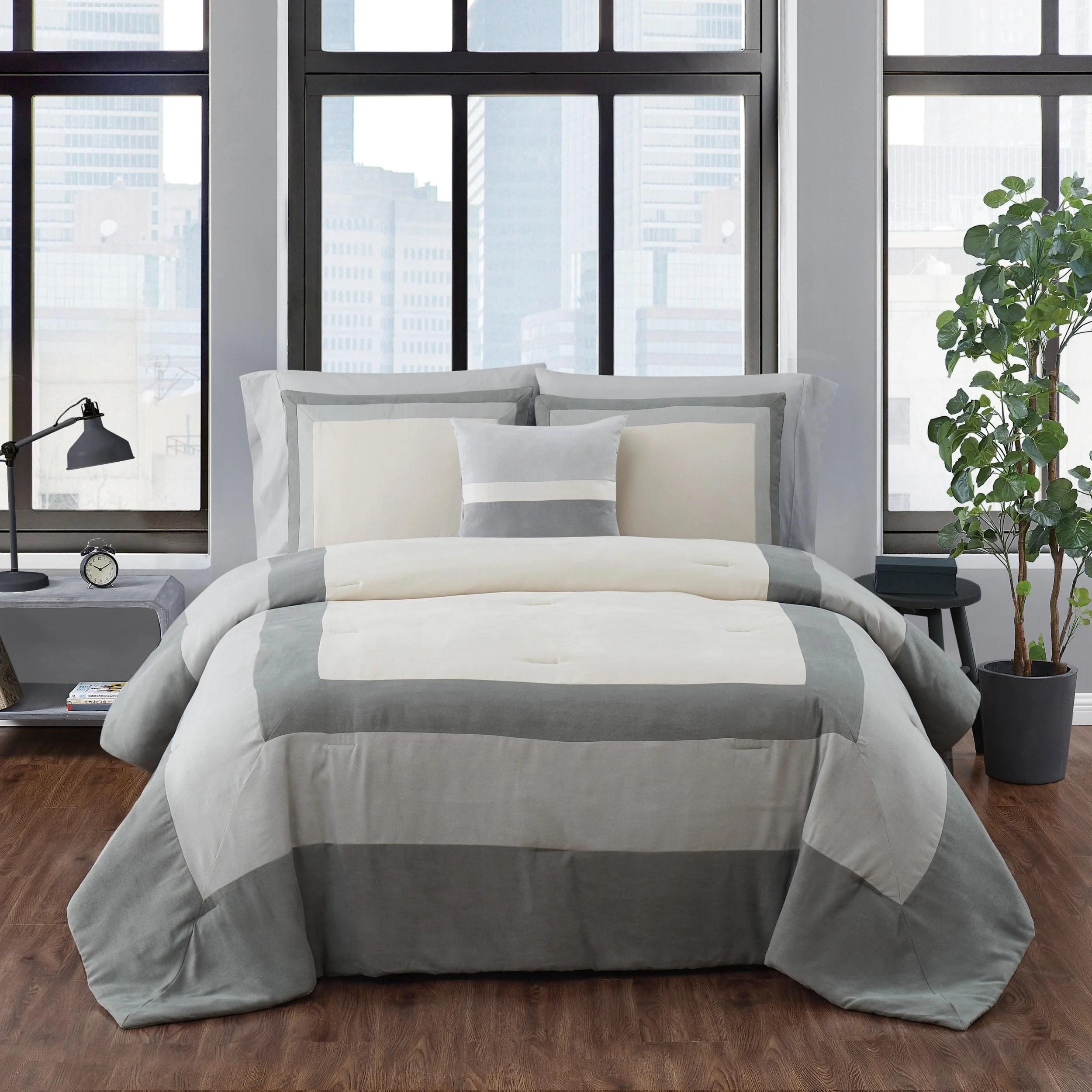 dartford microsuede comforter set