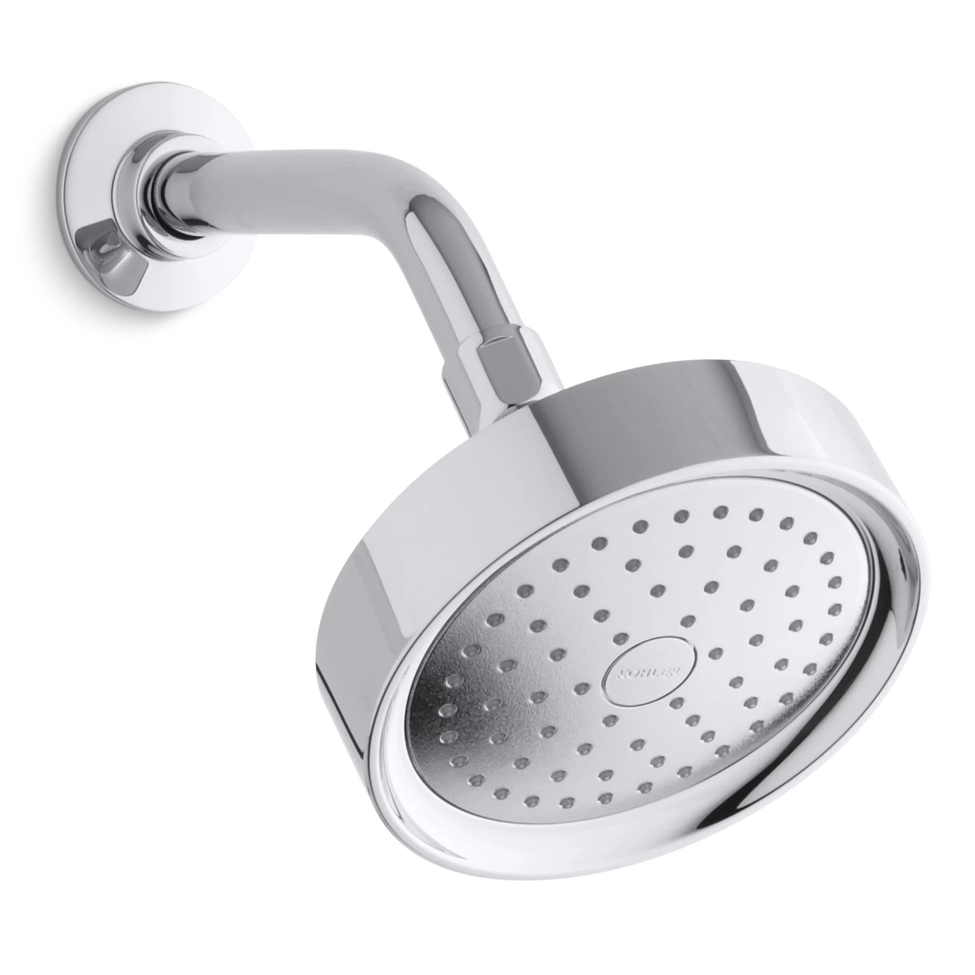 Purist 2 5 Gpm Single Function Wall Mount Shower Head With Katalyst Air Induction Spray