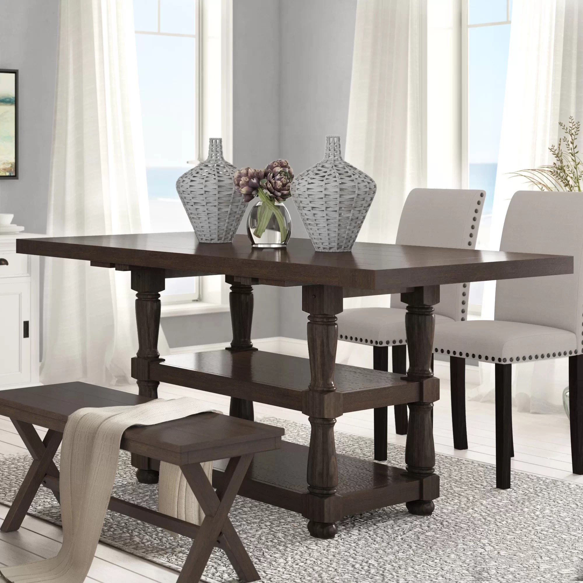 Laurel Foundry Modern Farmhouse Fortunat Counter Height Extendable Butterfly Leaf Dining Table Reviews Wayfair